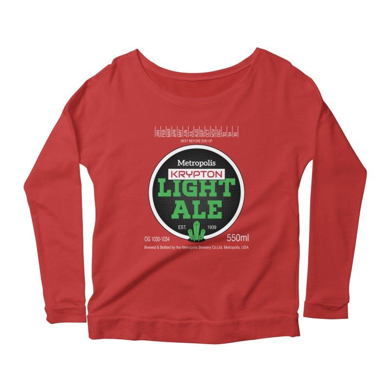 Metropolis Krypton Light Ale Women's Scoop Neck Longsleeve T-Shirt by Ian J. Norris