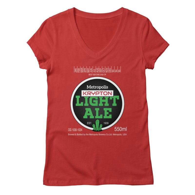 Metropolis Krypton Light Ale Women's Regular V-Neck by Ian J. Norris