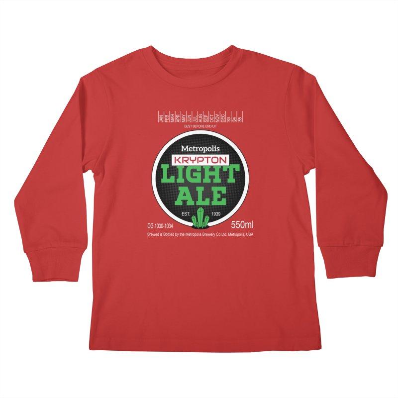 Metropolis Krypton Light Ale Kids Longsleeve T-Shirt by Ian J. Norris