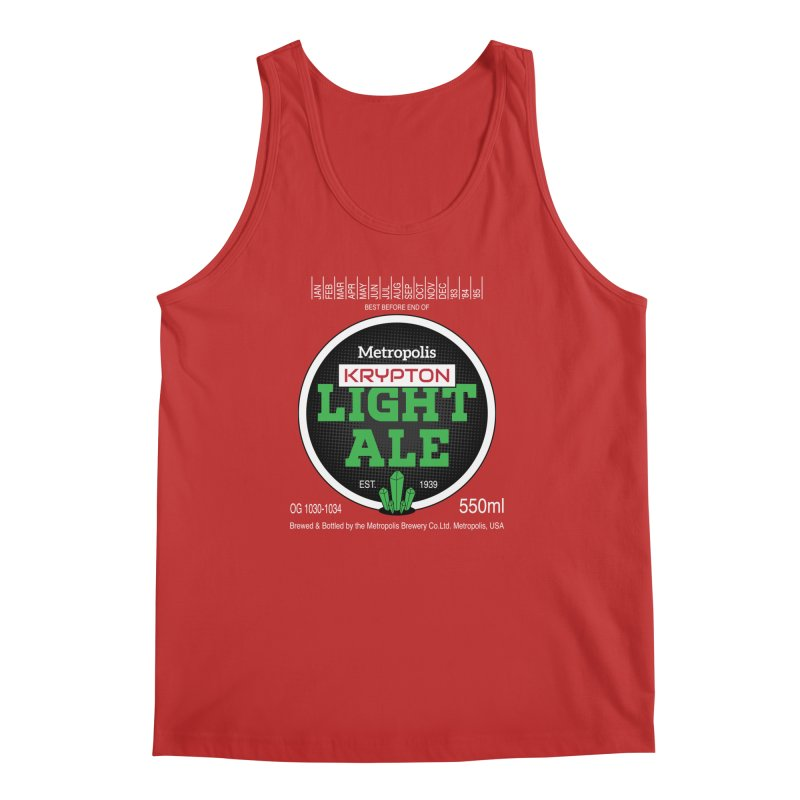 Metropolis Krypton Light Ale Men's Regular Tank by Ian J. Norris