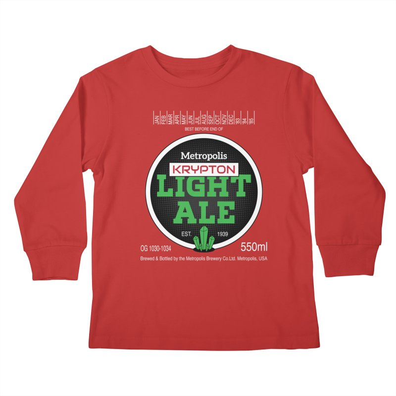 Metropolis Krypton Light Ale Kids Longsleeve T-Shirt by Ian J. Norris