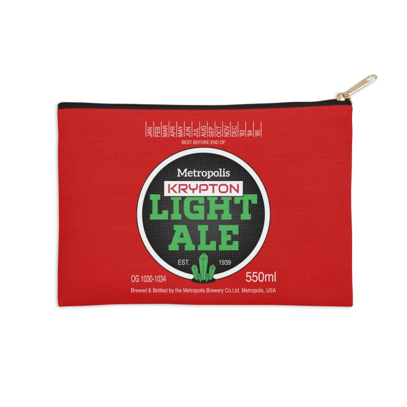Metropolis Krypton Light Ale Accessories Zip Pouch by Ian J. Norris