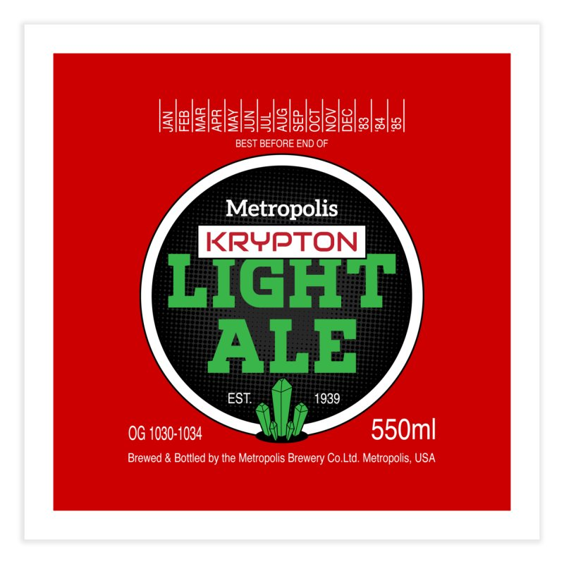 Metropolis Krypton Light Ale Home Fine Art Print by Ian J. Norris