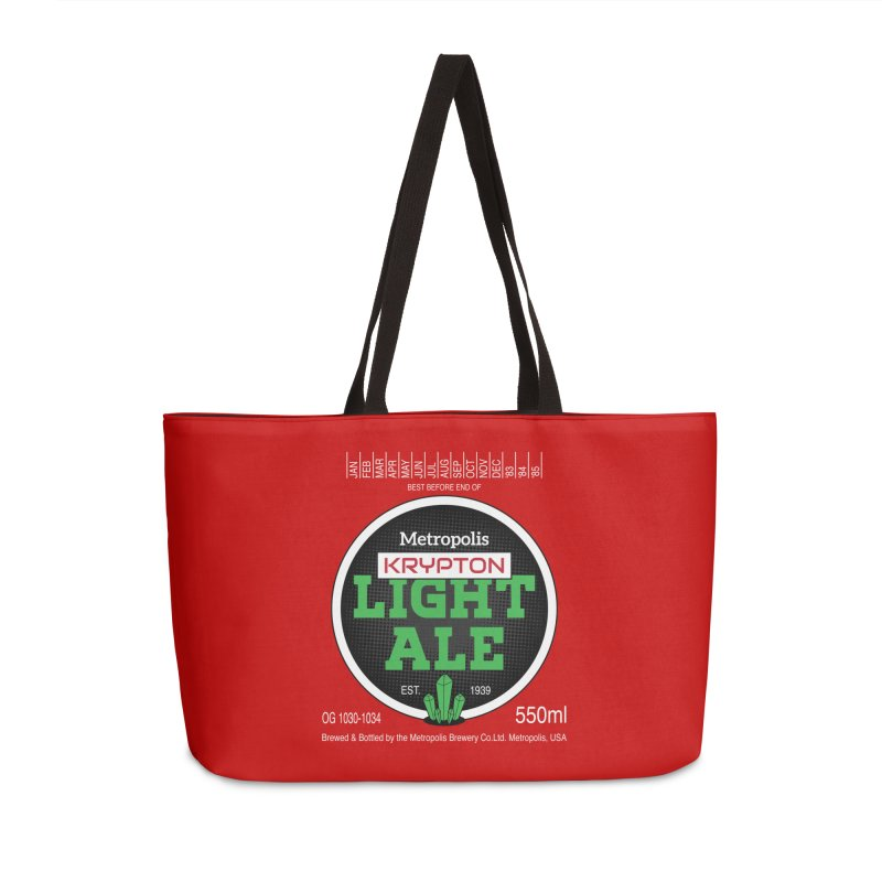 Metropolis Krypton Light Ale Accessories Weekender Bag Bag by Ian J. Norris