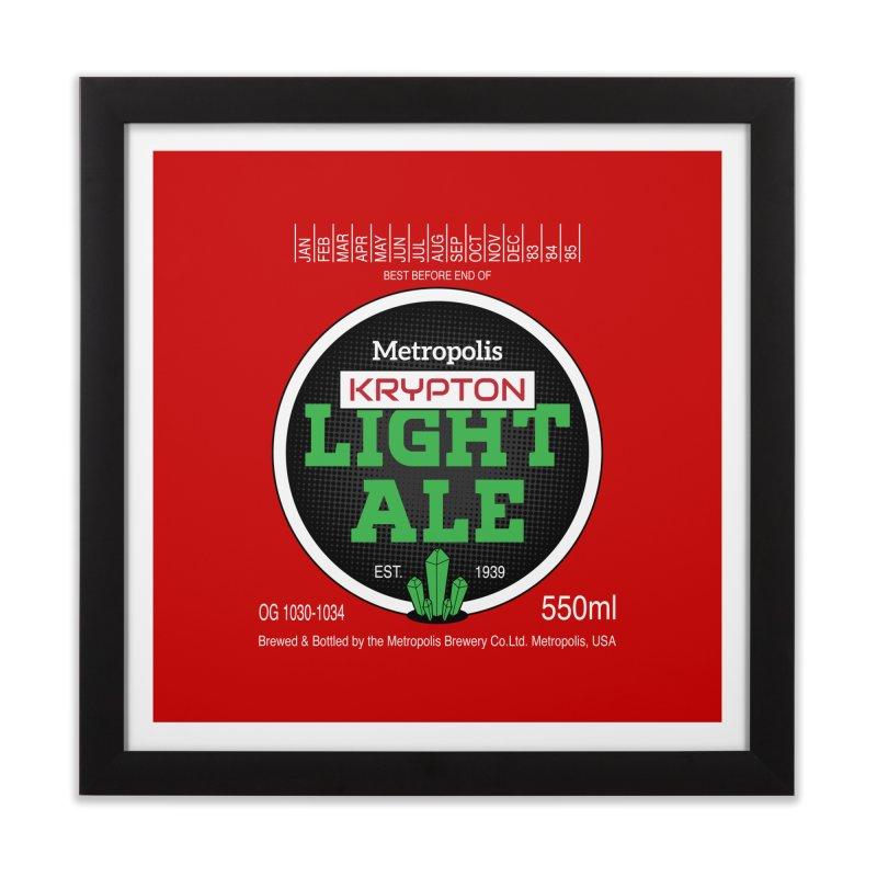 Metropolis Krypton Light Ale Home Framed Fine Art Print by Ian J. Norris