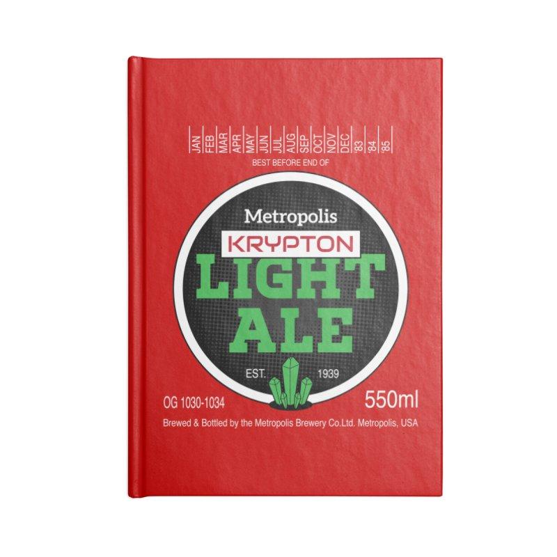 Metropolis Krypton Light Ale Accessories Notebook by Ian J. Norris