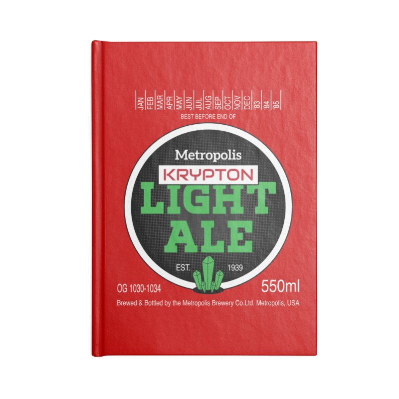 Metropolis Krypton Light Ale Accessories Blank Journal Notebook by Ian J. Norris