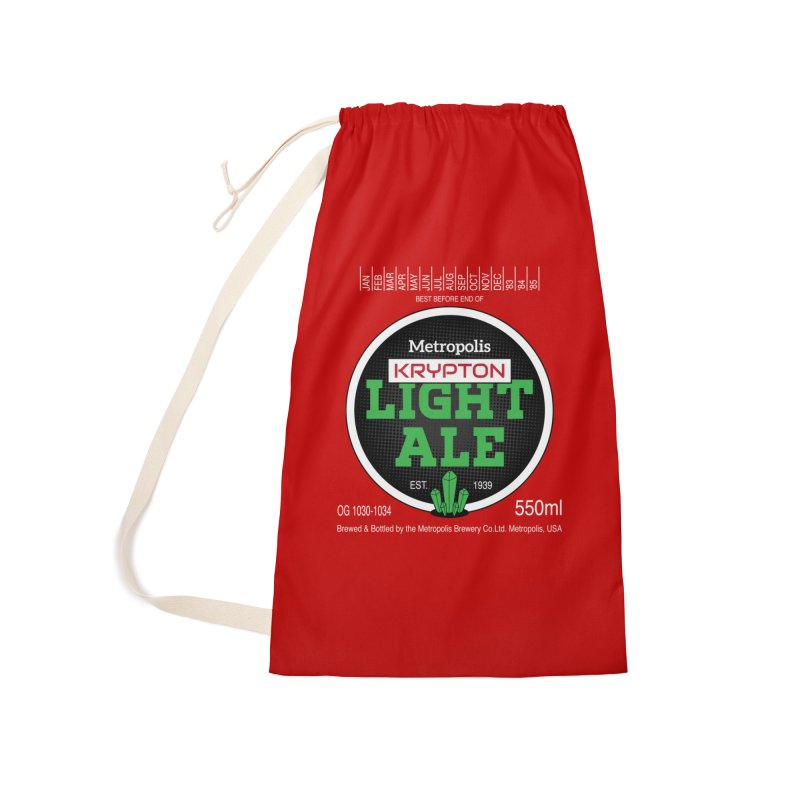 Metropolis Krypton Light Ale Accessories Laundry Bag Bag by Ian J. Norris
