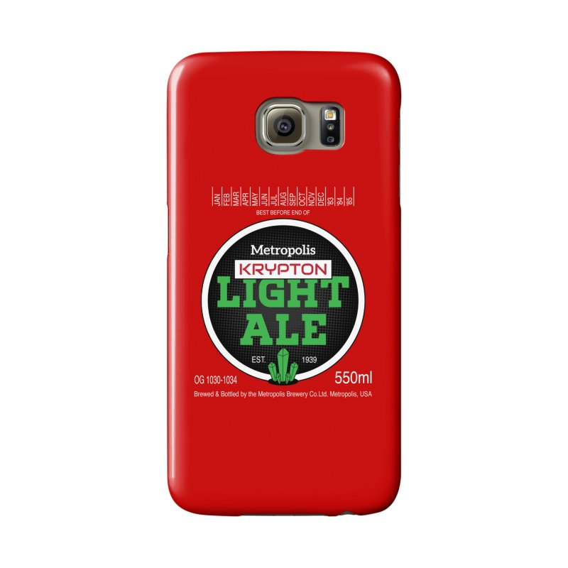 Metropolis Krypton Light Ale Accessories Phone Case by Ian J. Norris