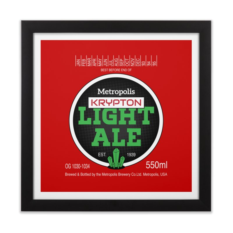 Metropolis Krypton Light Ale Home Framed Fine Art Print by Ian J. Norris
