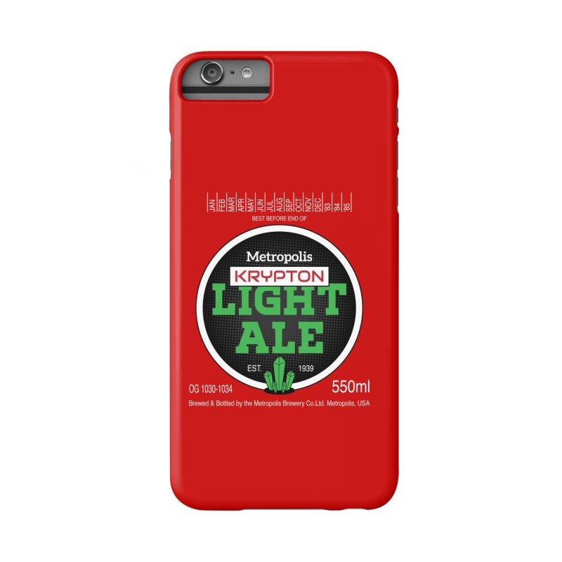 Metropolis Krypton Light Ale Accessories Phone Case by Ian J. Norris