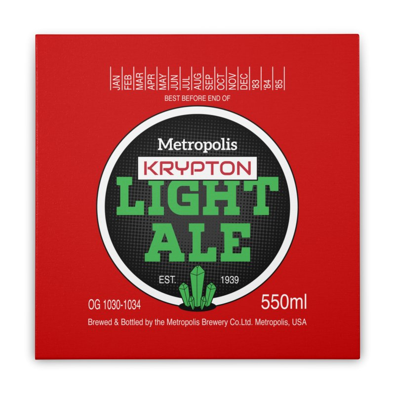 Metropolis Krypton Light Ale Home Stretched Canvas by Ian J. Norris