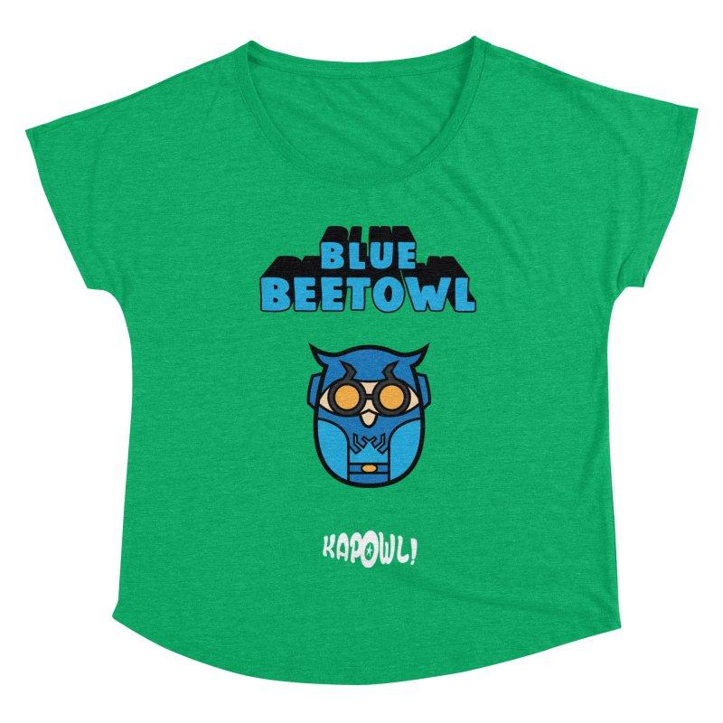 Blue Beetowl Women's Dolman Scoop Neck by Ian J. Norris