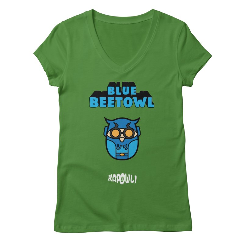 Blue Beetowl Women's Regular V-Neck by Ian J. Norris