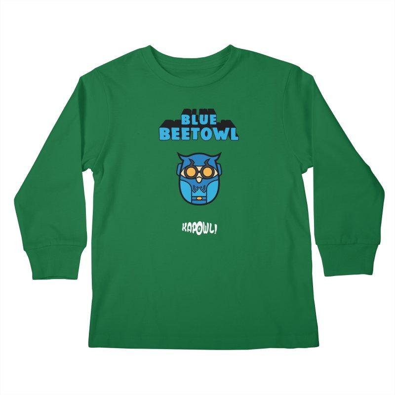 Blue Beetowl Kids Longsleeve T-Shirt by Ian J. Norris