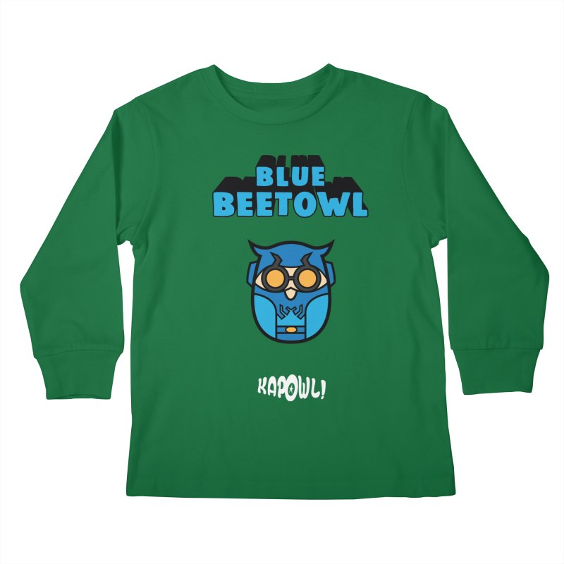 Blue Beetowl Kids Longsleeve T-Shirt by Ian J. Norris