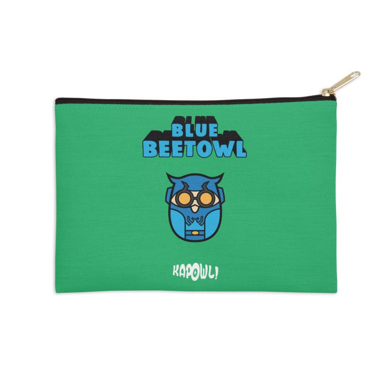 Blue Beetowl Accessories Zip Pouch by Ian J. Norris