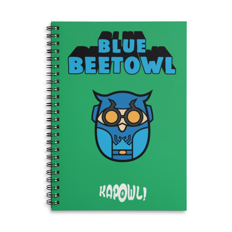 Blue Beetowl Accessories Lined Spiral Notebook by Ian J. Norris