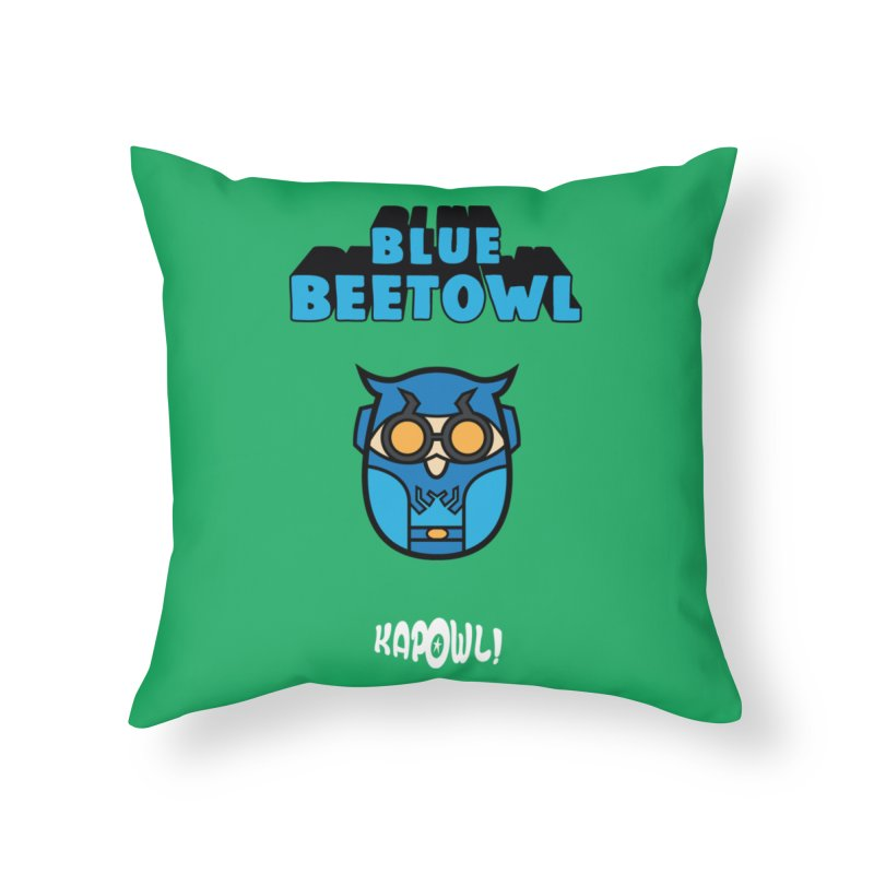 Blue Beetowl Home Throw Pillow by Ian J. Norris