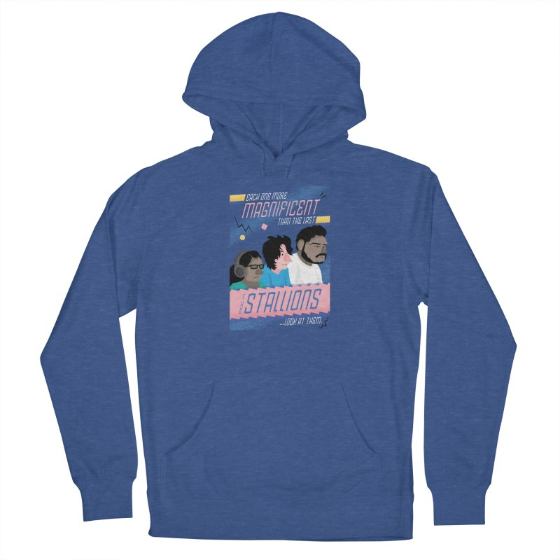 The Stallions Women's French Terry Pullover Hoody by Ian J. Norris