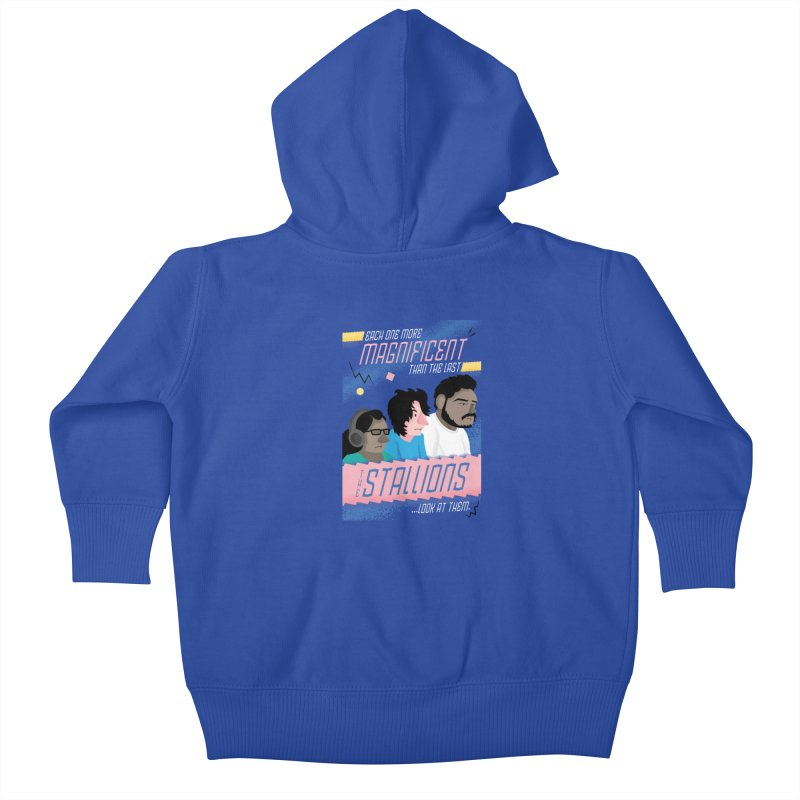 The Stallions Kids Baby Zip-Up Hoody by Ian J. Norris