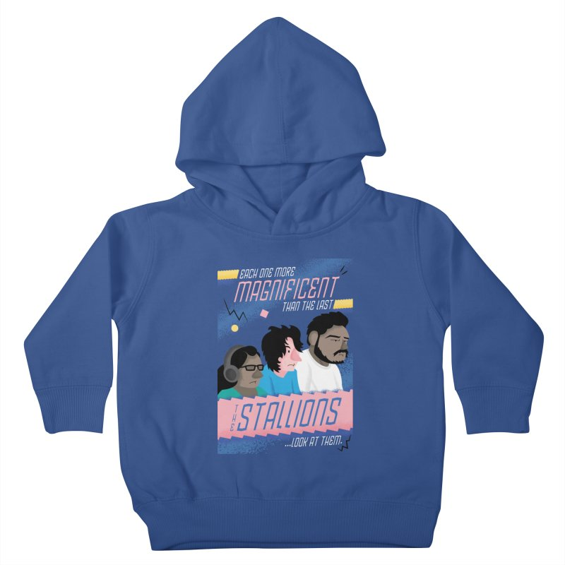The Stallions Kids Toddler Pullover Hoody by Ian J. Norris