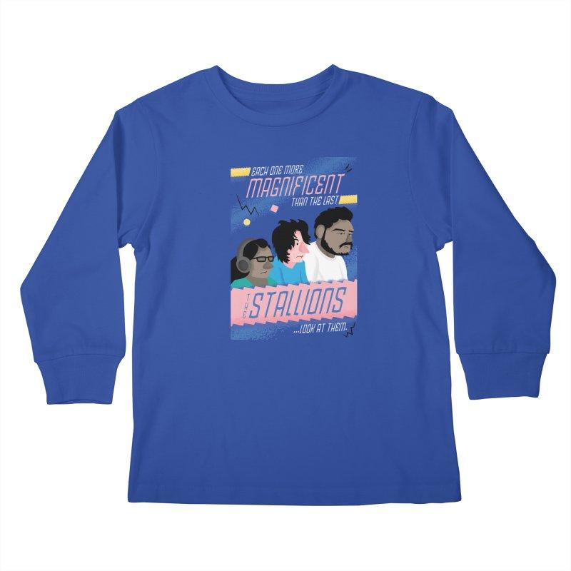 The Stallions Kids Longsleeve T-Shirt by Ian J. Norris