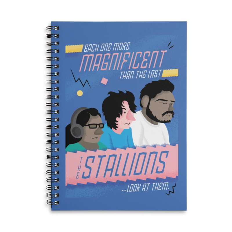 The Stallions Accessories Lined Spiral Notebook by Ian J. Norris