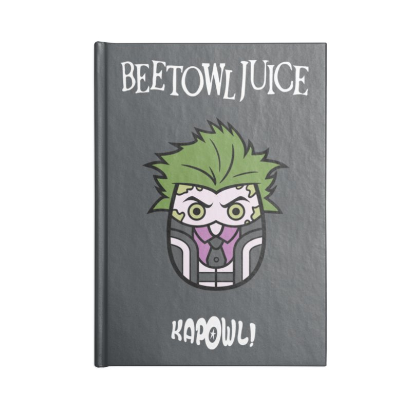 Beetowljuice Accessories Blank Journal Notebook by Ian J. Norris