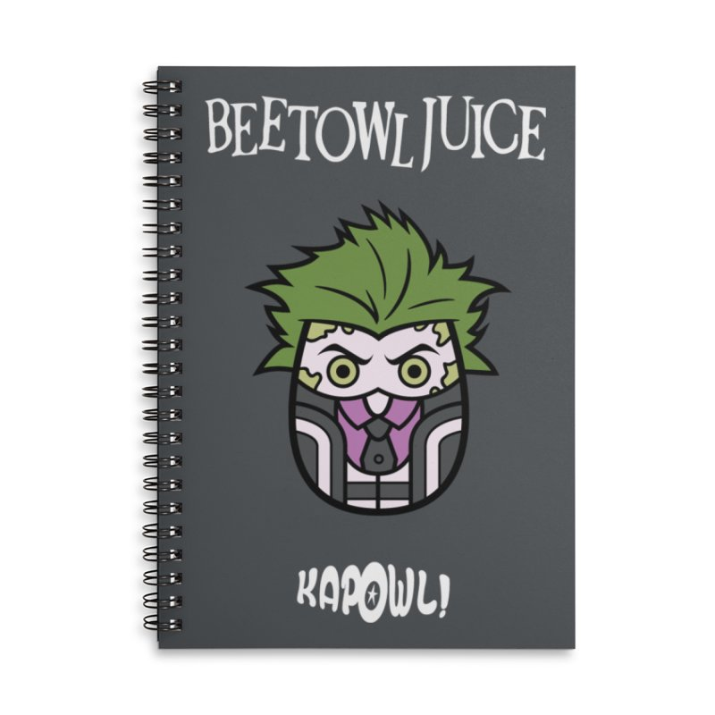 Beetowljuice Accessories Lined Spiral Notebook by Ian J. Norris