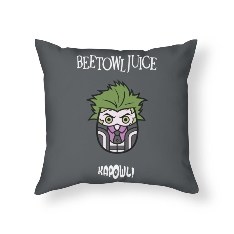 Beetowljuice Home Throw Pillow by Ian J. Norris