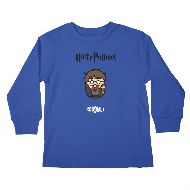 Harry Pottowl Kids Longsleeve T-Shirt by Ian J. Norris