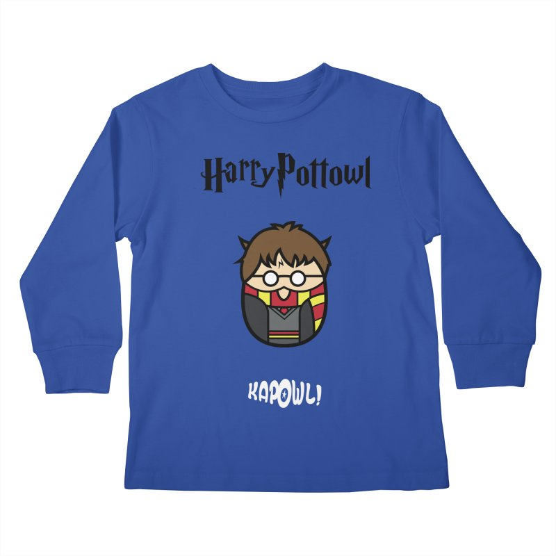 Harry Pottowl Kids Longsleeve T-Shirt by Ian J. Norris