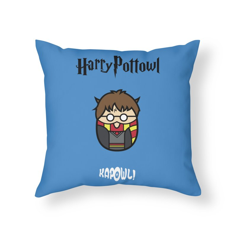 Harry Pottowl Home Throw Pillow by Ian J. Norris