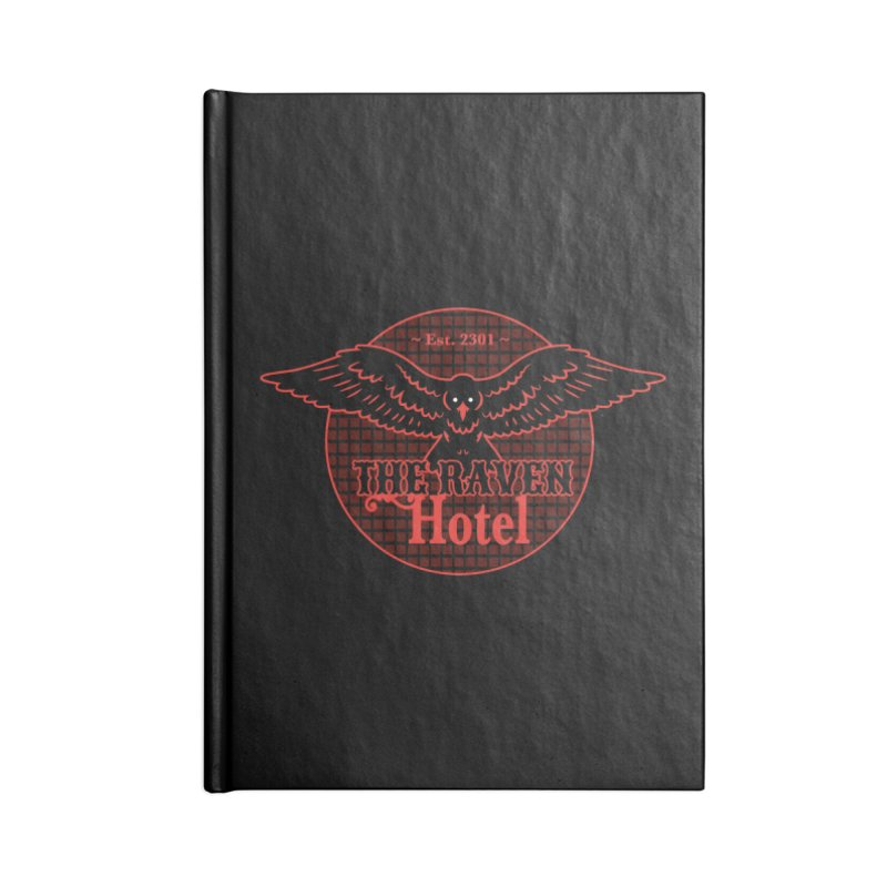 The Raven Hotel Accessories Blank Journal Notebook by Ian J. Norris
