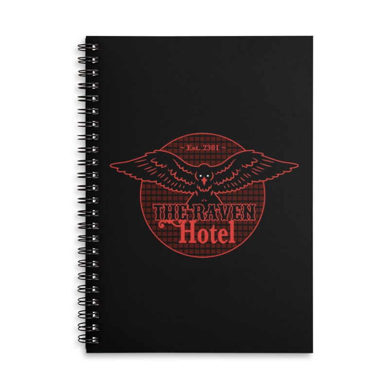 The Raven Hotel Accessories Lined Spiral Notebook by Ian J. Norris
