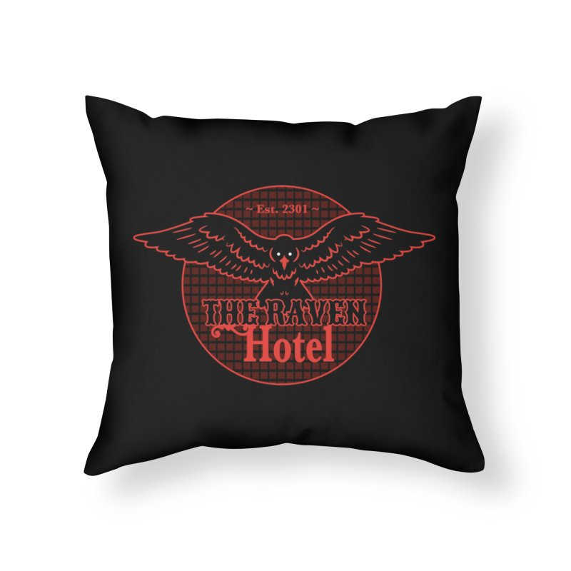 The Raven Hotel Home Throw Pillow by Ian J. Norris