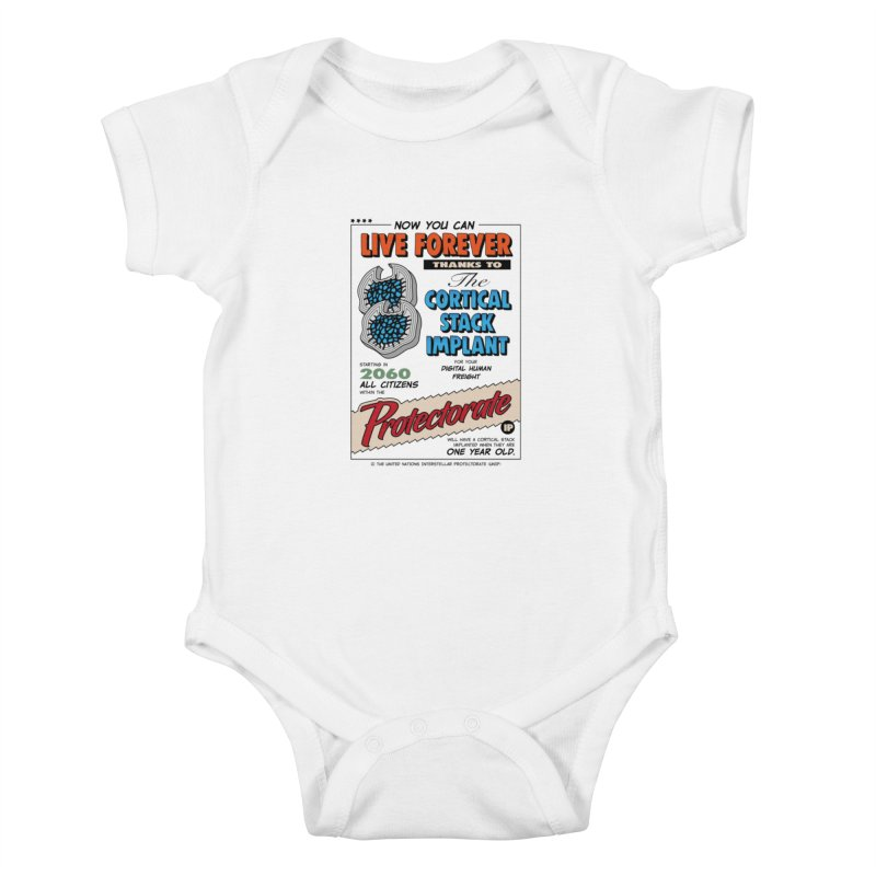 The Cortical Stack Implant Kids Baby Bodysuit by Ian J. Norris