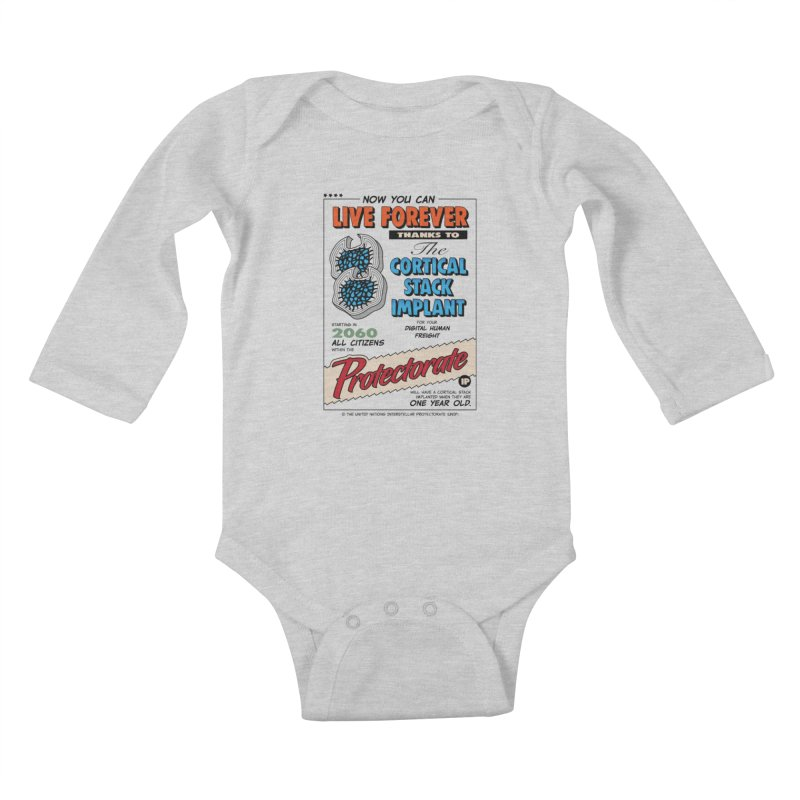 The Cortical Stack Implant Kids Baby Longsleeve Bodysuit by Ian J. Norris