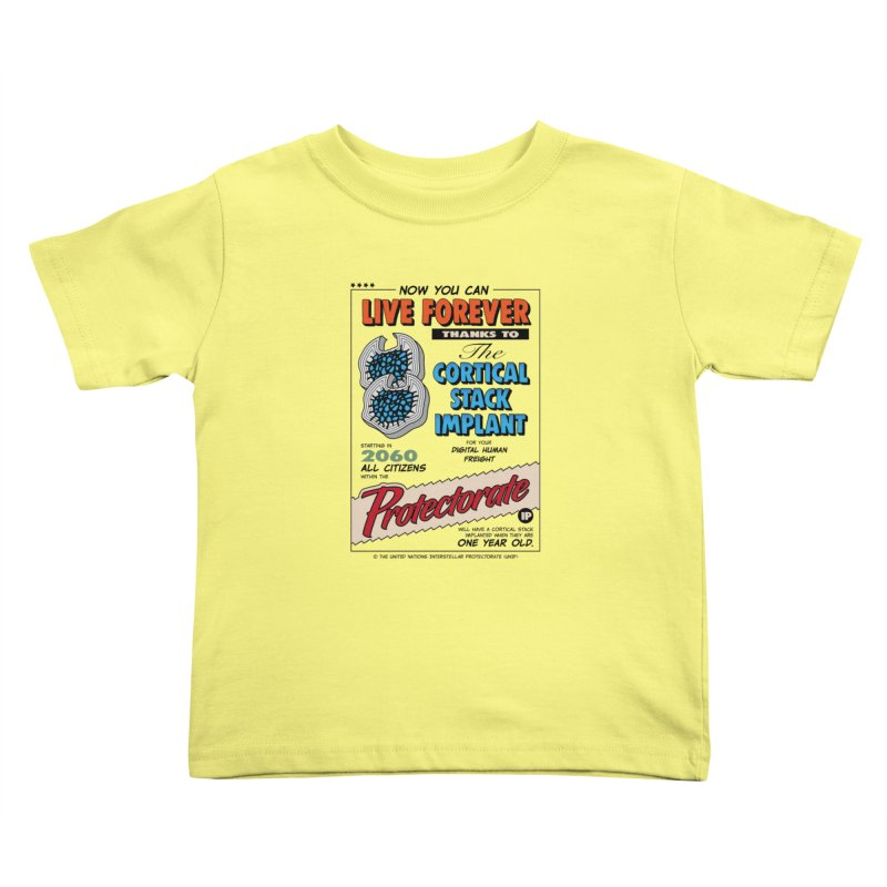 The Cortical Stack Implant Kids Toddler T-Shirt by Ian J. Norris