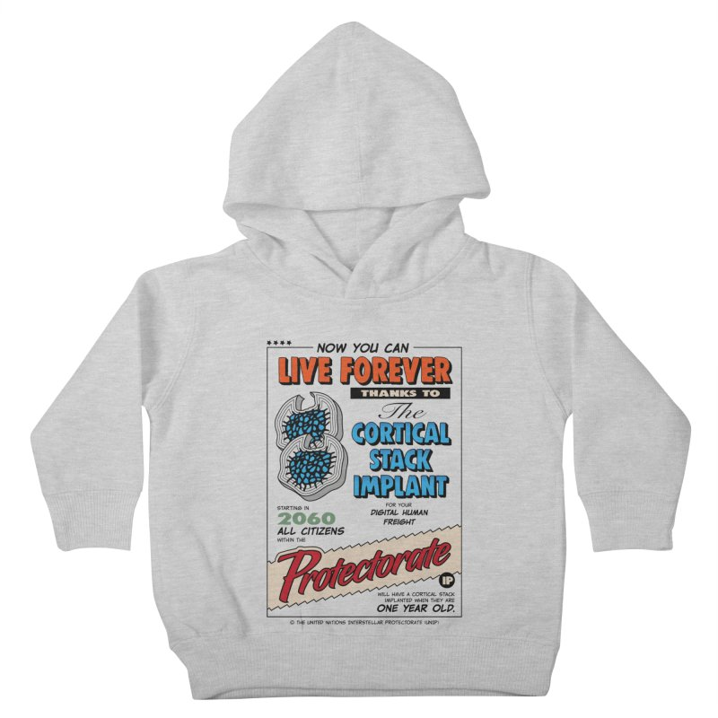 The Cortical Stack Implant Kids Toddler Pullover Hoody by Ian J. Norris