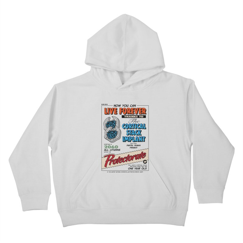 The Cortical Stack Implant Kids Pullover Hoody by Ian J. Norris