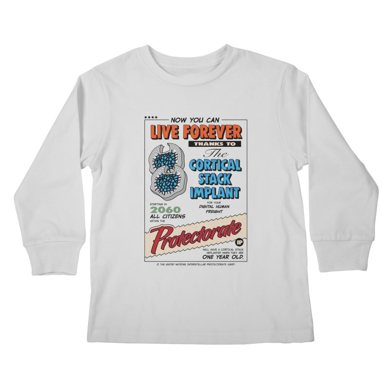 The Cortical Stack Implant Kids Longsleeve T-Shirt by Ian J. Norris