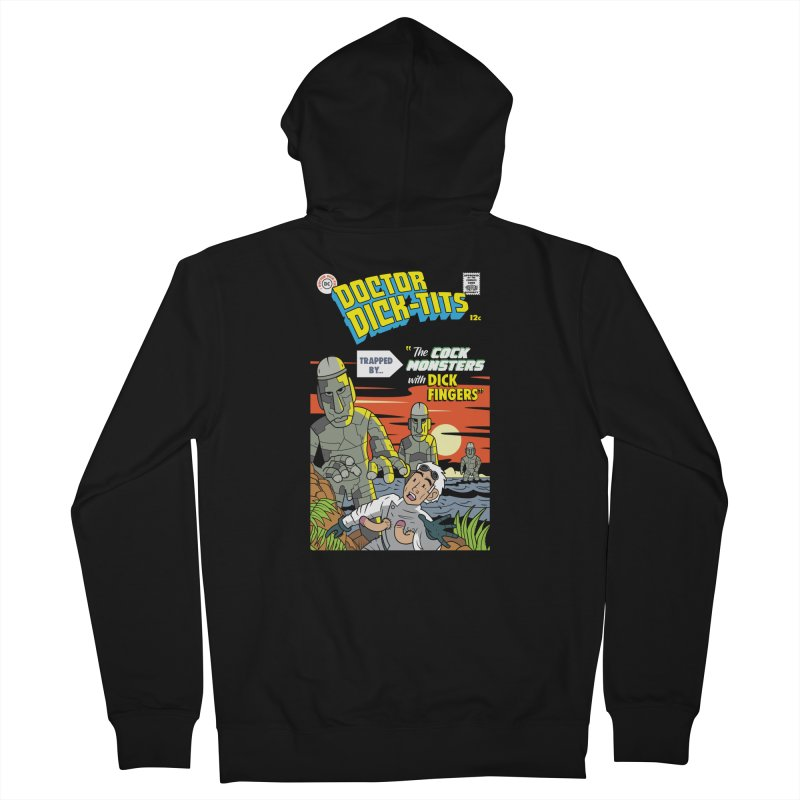 Doctor Dick-Tits Monsters Men's Zip-Up Hoody by Ian J. Norris
