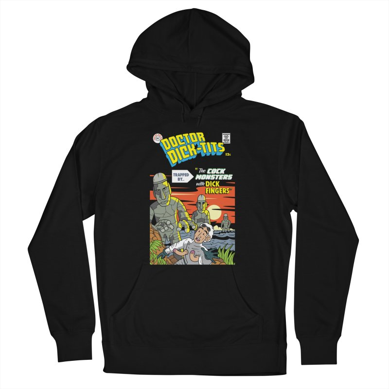 Doctor Dick-Tits Monsters Women's French Terry Pullover Hoody by Ian J. Norris