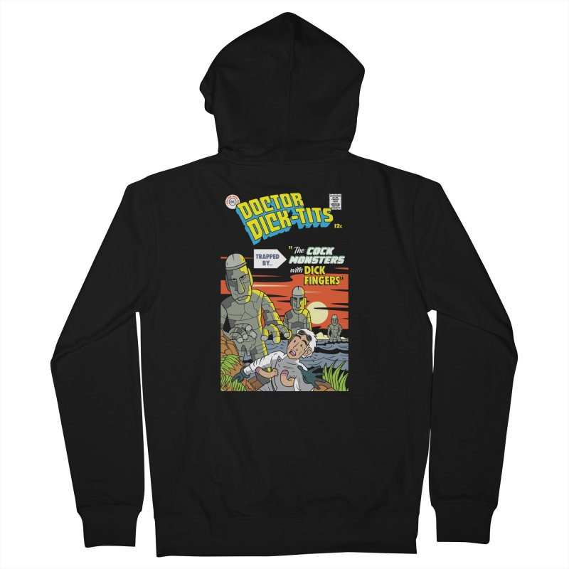 Doctor Dick-Tits Monsters Men's French Terry Zip-Up Hoody by Ian J. Norris
