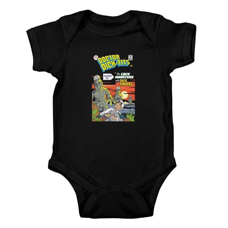 Doctor Dick-Tits Monsters Kids Baby Bodysuit by Ian J. Norris