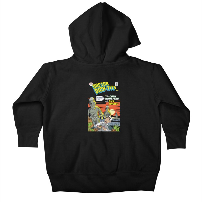 Doctor Dick-Tits Monsters Kids Baby Zip-Up Hoody by Ian J. Norris