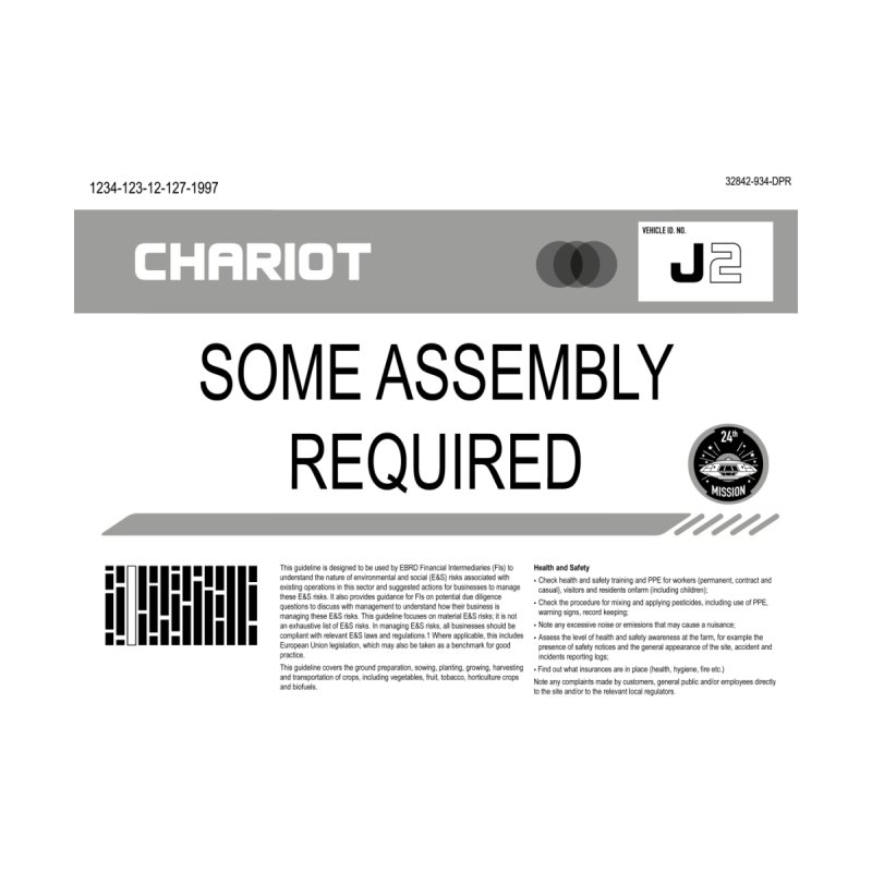 Some Assembly Required - Lost in Space Accessories Bag by Ian J. Norris