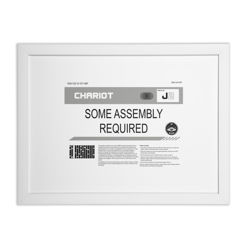 Some Assembly Required - Lost in Space Home Framed Fine Art Print by Ian J. Norris